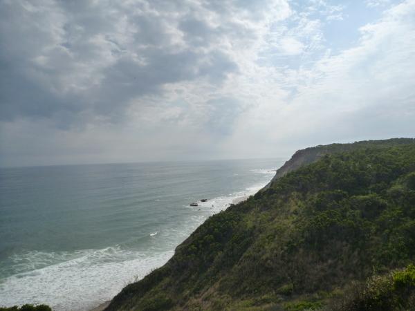 Descending the cliffs