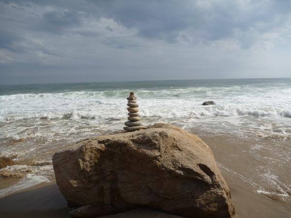 Rocks on a rock