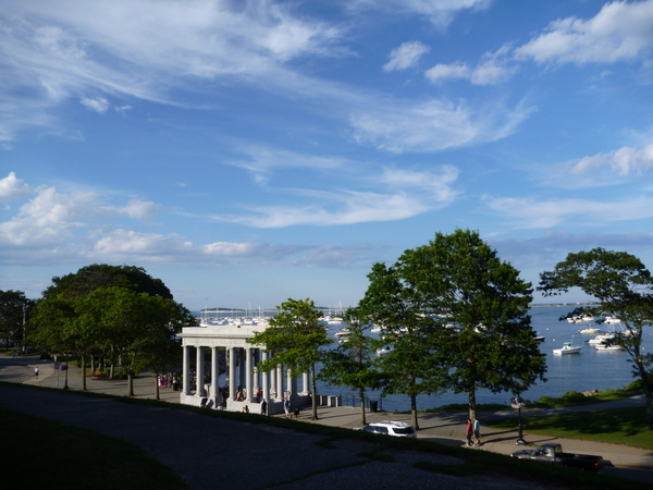 View of the portico that hold the Rock.  How grand!