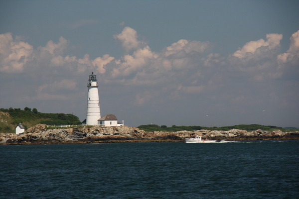 Lighthouse on the outer Boston islands.