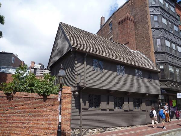 Paul Revere's house nestled into Little Italy.