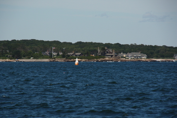 First sighting of the Bush compound.