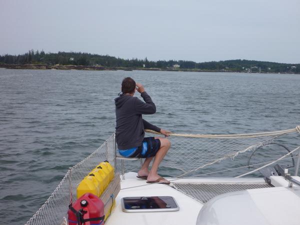 Brett on lookout.