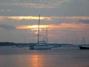 Ryana at sunset in Port Jeff.