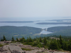 From the top of Penobscot Mtn.